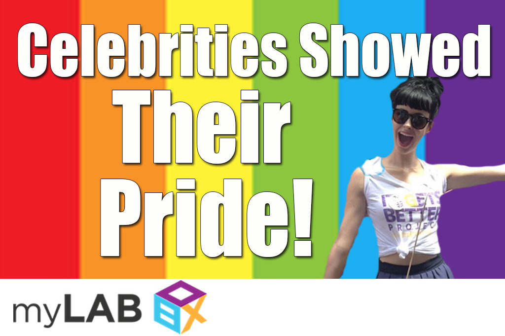 Celebrities show their pride